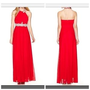 My Michelle Red Crystal embellished dress